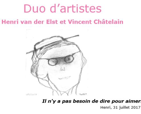 L'affiche de l'exposition Duo d'Artistes